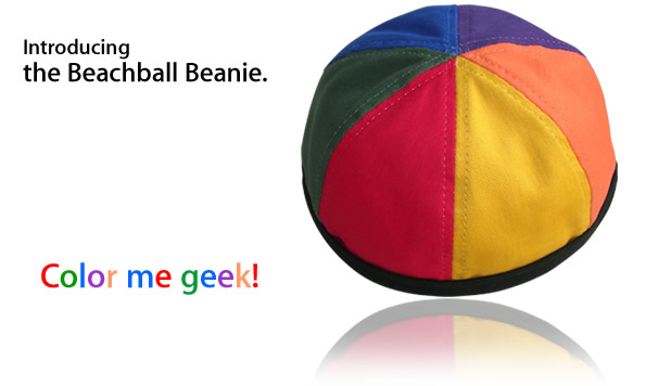 Introducing the Beachball Beanie!