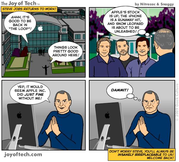 comic Retorno de Steve Jobs