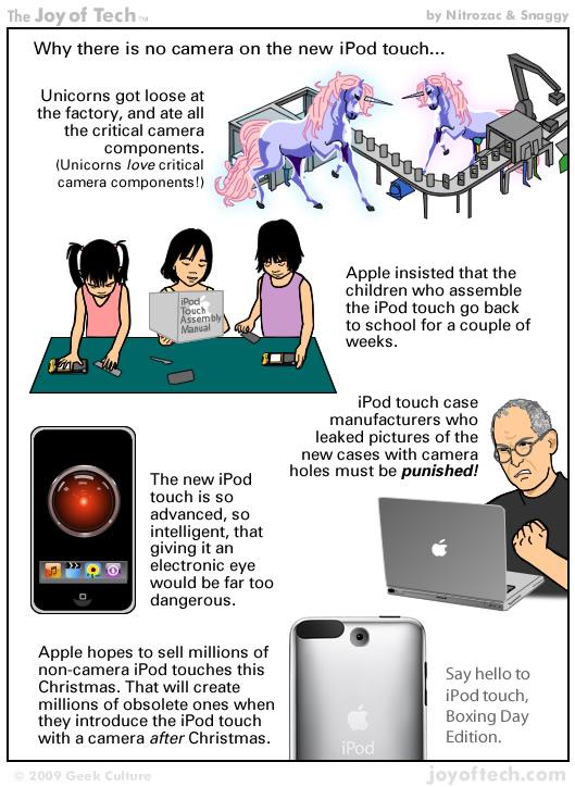 Porque el nuevo iPod touch no trae cámara