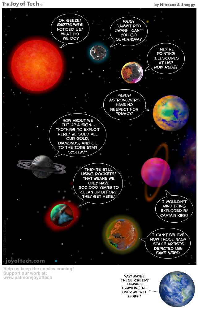 Seven angry planets!