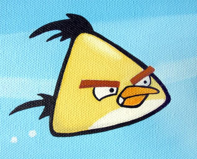 Yellow Angry Bird Flying Yellow Angry Bird Flyi...