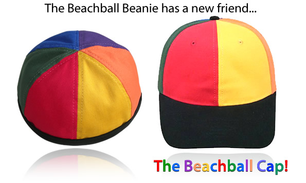 Introducing the Beachball Beanie and cap!